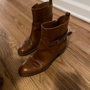 J. Crew Shoes - J.Crew Brown Leather Booties
